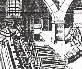 The Laborious Work of Paper-making and Stamping in the 16th Century