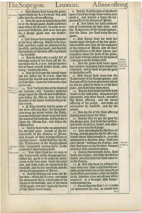 Leviticus 15:19b-16:8 - 16:9-16:30a
