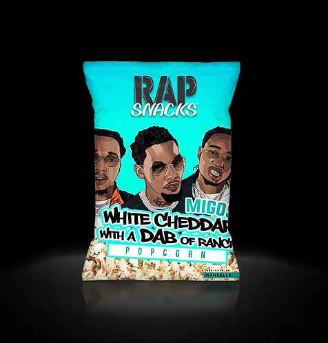 Rap Snacks White Cheddar Popcorn with DBA of Ranch