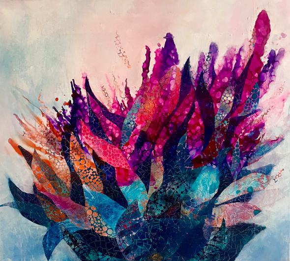 Magic flowers 1 | Mixed Media