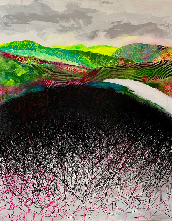 Kafka's landscape | Mixed Media