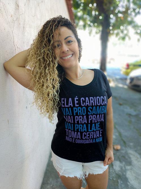 CAMISETA ELA É CARIOCA BOTONÊ