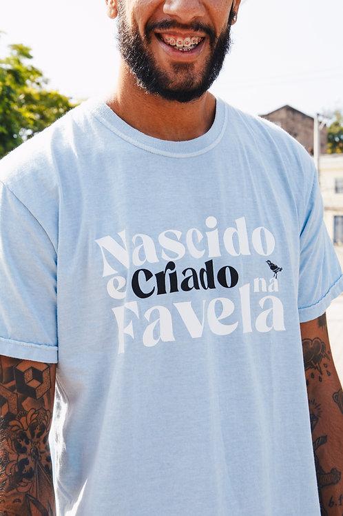 CAMISETA NASCIDO E CRIADO NA FAVELA STONE