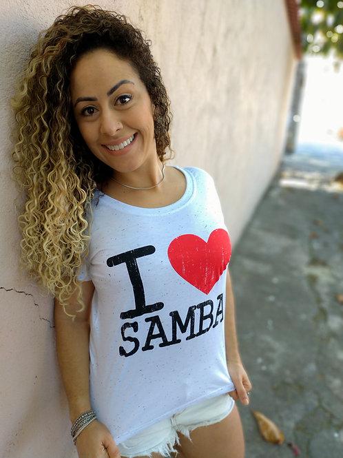CAMISETA I ❤️ SAMBA BOTONÊ