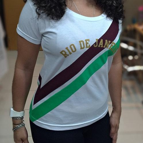 CAMISETA NAÇÃO TRICOLOR FEMININA
