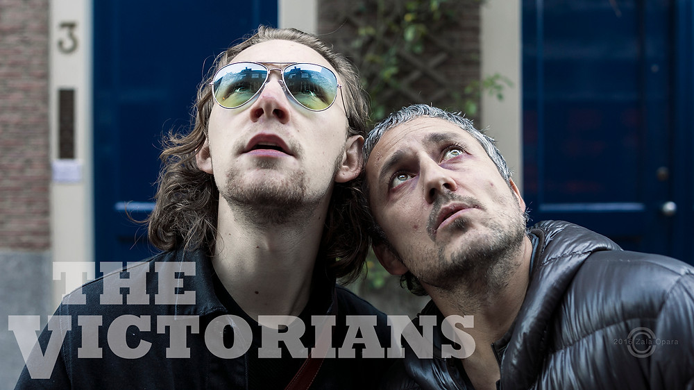 Jordan Maycock (Abba) and Neil Webster (Alfi) in the indie film, The Victorians