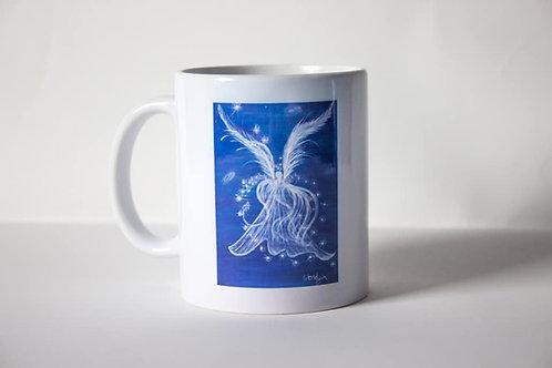 Blue Guardain Angel Mug