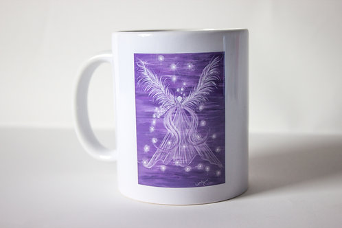 Purple Guardian Angel Mug