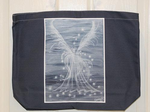 Grey Guardian Angel Tote Bag