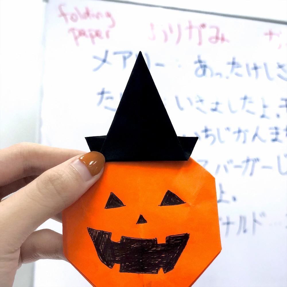 Origami Jack O' Lantern | Halloween origami, Kids origami, Origami ... | 1000x1000