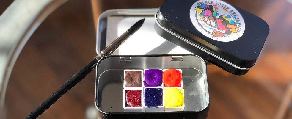 Half pan watercolor set