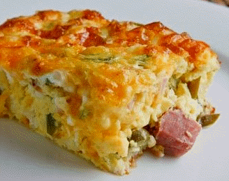 Ham & Cornbread Casserole