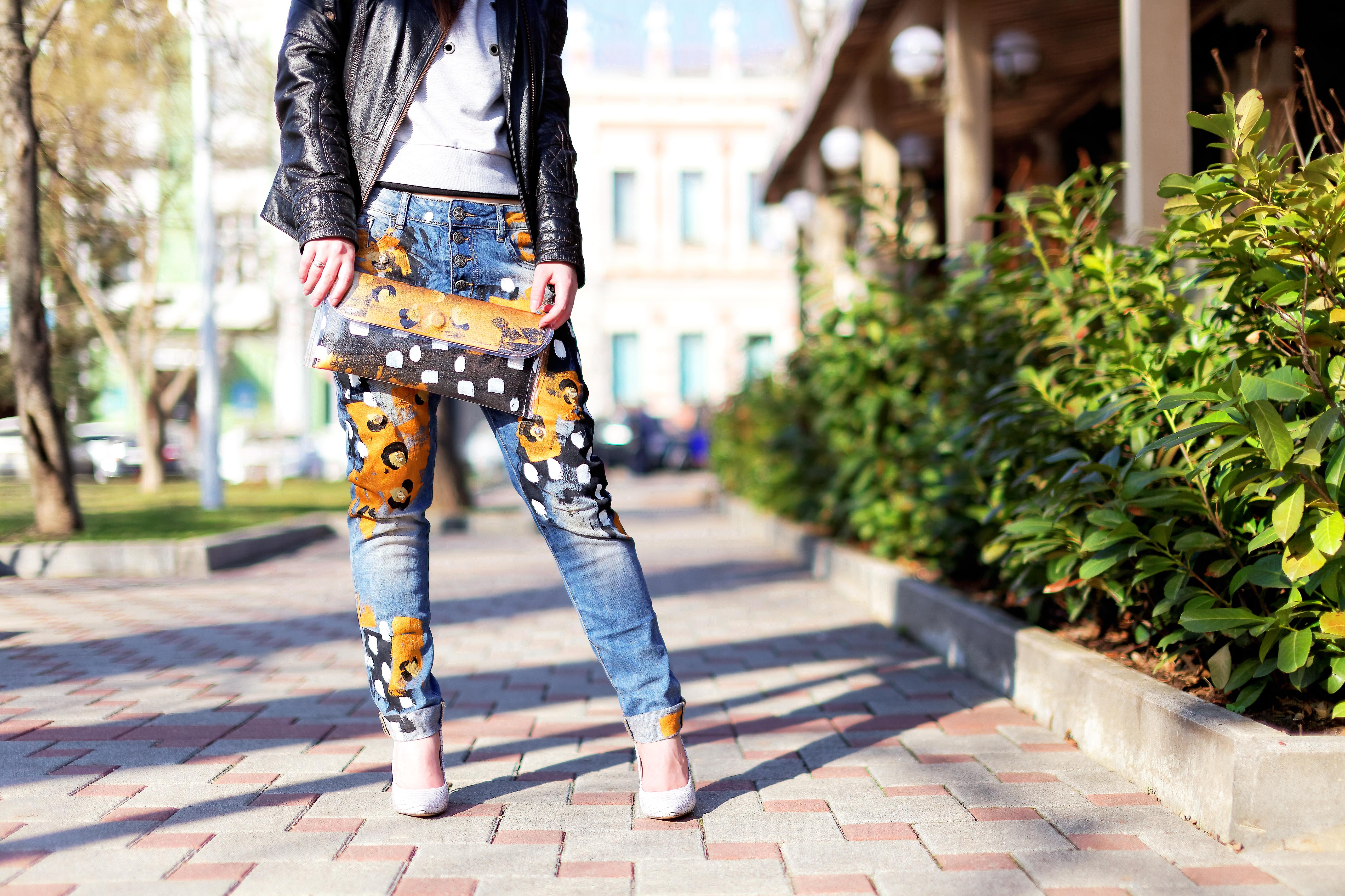 Роспись джинс
