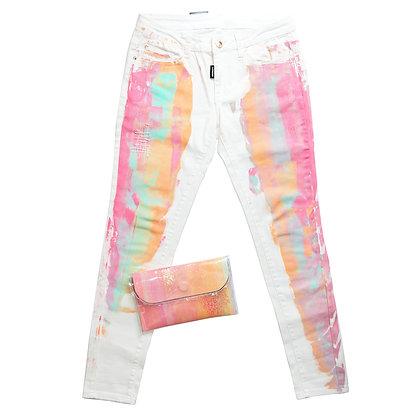 """Комплект (джинсы + клатч """"маленький"""")"""