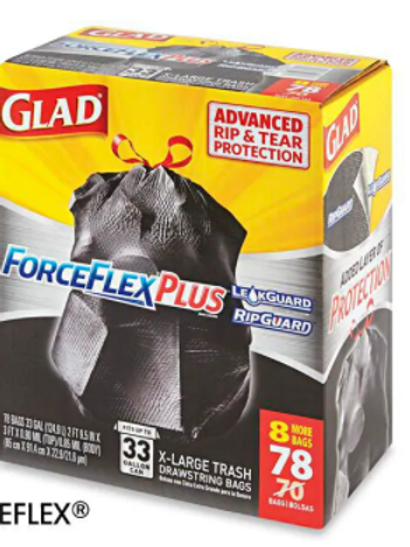 Glad® ForceFlex® Trash Bags - 33 Gallon