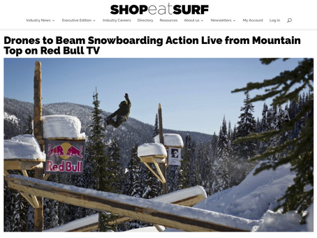 Press: Drones to Beam Snowboarding Action Live from Mountain Top on Red Bull TV