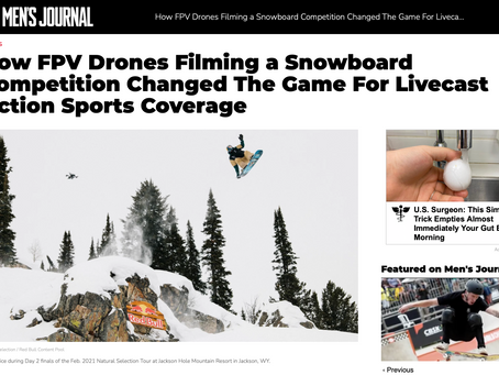 Press: How FPV Drones Filming a Snowboard Competition Changed The Game For Livecast Action Sports Co