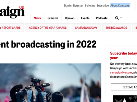 Press: Live event broadcasting in 2022