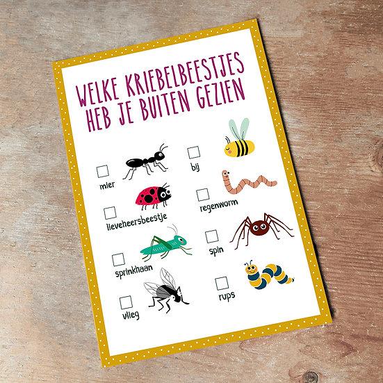 Kriebelbeestjes kaart - download