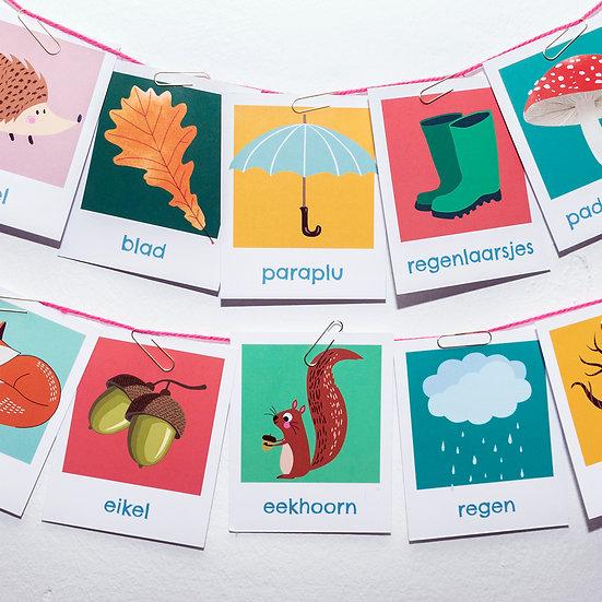 Herfst woordkaarten
