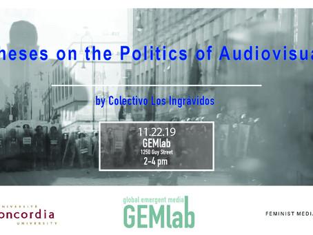 Davani Varillas Talk: Theses on the Politics of the Audiovisual