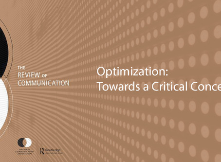 """Call for Papers – """"Optimization: Towards a Critical Concept"""" – Review of Communication"""