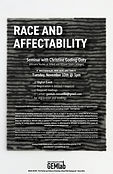"""Race and Affectability"" with Christine Goding-Doty Rescheduled to Nov. 10, 3PM"