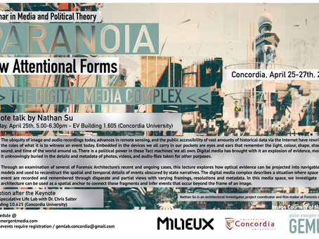 Seminar in Media and Political Theory: Media & Paranoia - New Attentional Forms