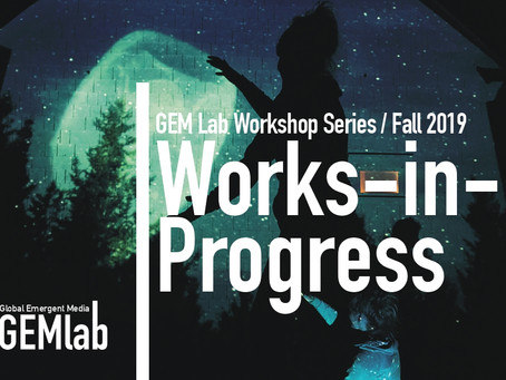 Works in Progress 2019-2020 - CFP and Fall Schedule