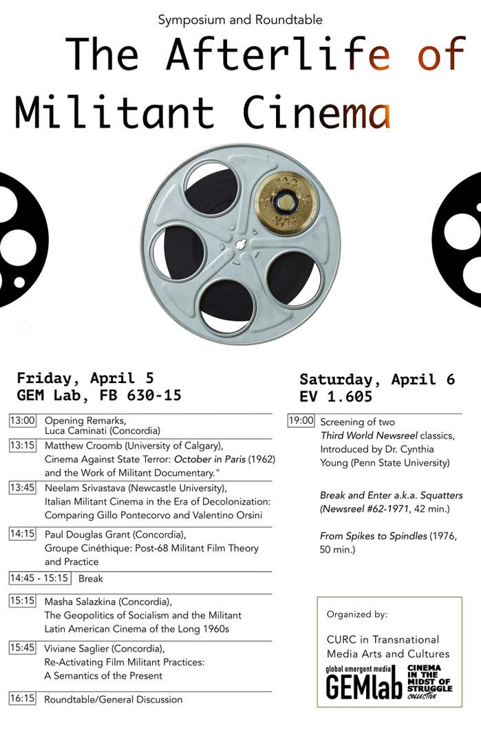 Afterlife of militant cinema (schedule H