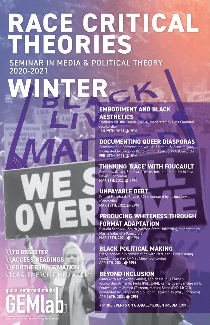 2020-2021 Race Critical Theories - WINTE