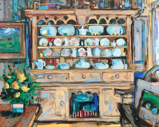 Hutch with Dishware