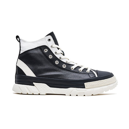 DOUBLE LAYER LEATHER STITCHING SNEAKERS