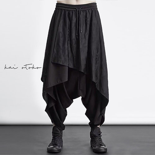 LAYERED LOW CROTCH ANKLE PANTS