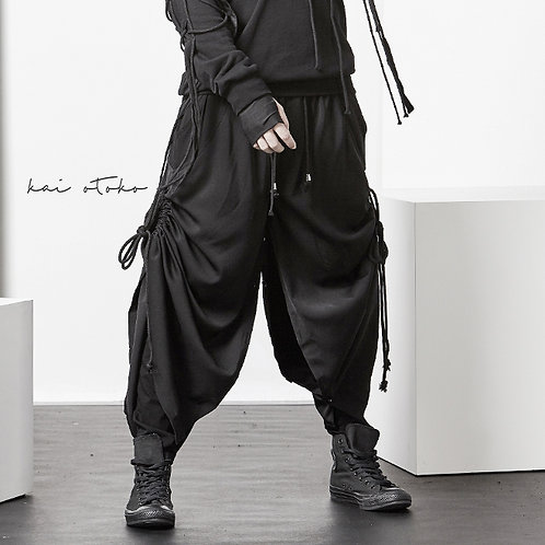 OVERSIZE LONG PANTS WITH ADJUSTABLE DRAWSTRING