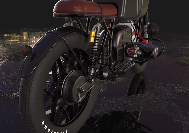 BMW cafe racer concept.  This was the first personal project I made and it took me a while. It was trully a challenge to model and assemble all the pieces.  It's a bike I really love from the late 70's, modified to be a café racer, a style I'm also passionate about. The bad thing about these projects is that although the result is great they take a lot of time, but I plan to make a concept SEAT with Catia soon.