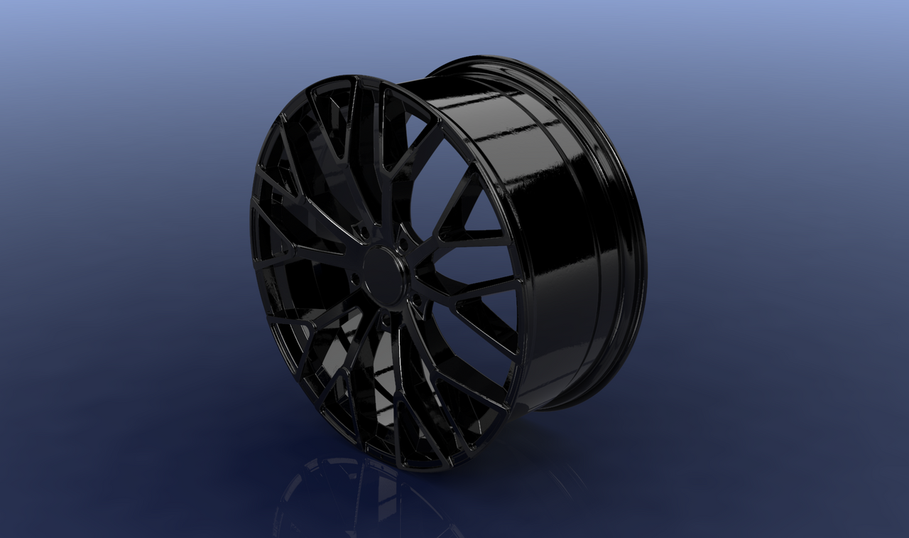 Wheel rim  I designed this wheel rim inspired by one model I saw on Instagram. Although I have been busy these days, being a relatively simple object has not meant any inconvenience and working on it allowed me to disconnect from the university work.