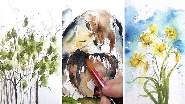 easter bundle watercolor courses