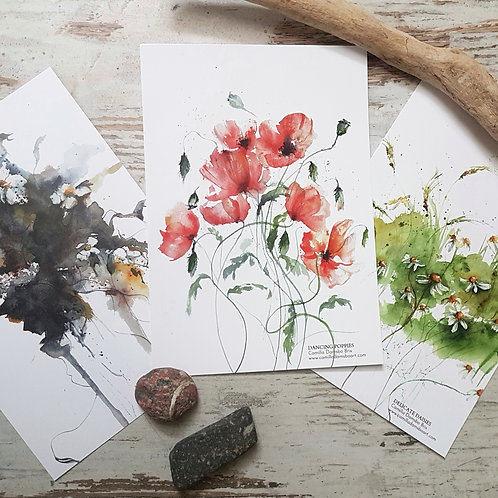 3 Floral Cards