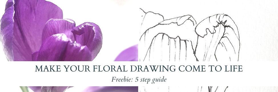 freebie floral linedrawing