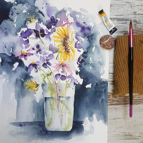 Learn loose watercolor florals