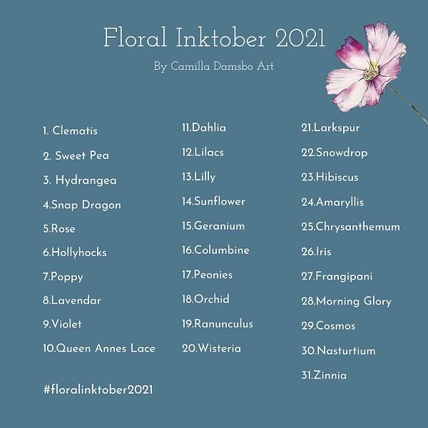 floral inktober promptlist.png