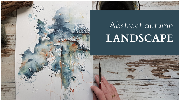 Abstract autumn landscape