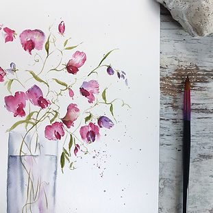 watercolor Sweetpeas for beginners.jpeg