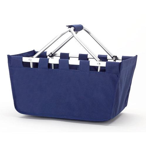 Blue Market Bag - Custom Embroidered