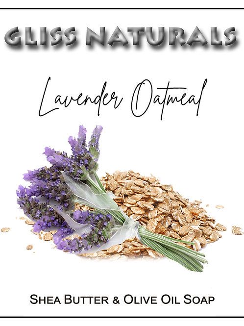 Hand Crafted Lavender Oatmeal Soap