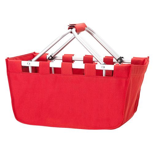 Red Market Bag - Custom Embroidered