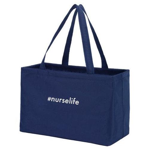 Navy Blue Nurse Life Tote