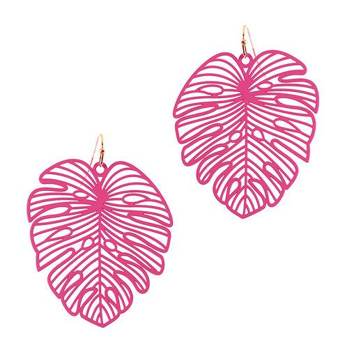 Pink Palm Earrings