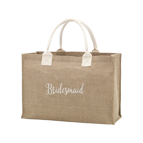 Burlap Bridesmaid Tote